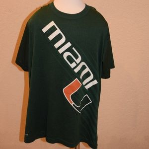 Nike University of Miami Dri fit Shirt